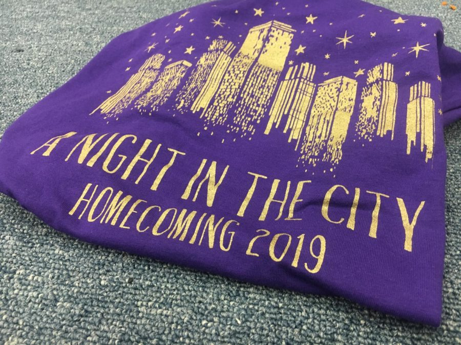 Girls Athletic Club staff shirts for McDowell Homecoming with the theme of A Night in The City.