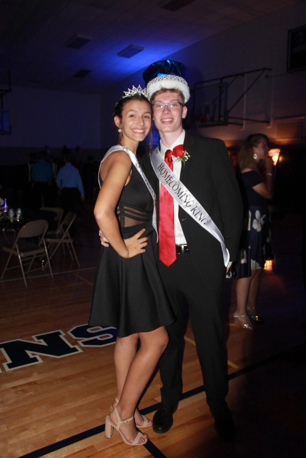 Nina+DiPlacido+%28left%29+and+Patrick+Montgomery+%28right%29+won+Homecoming+King+and+Queen