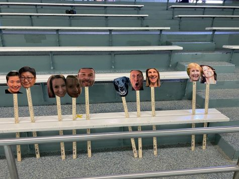 Water Polo parents still show support for their student athletes despite Covid-19 restrictions for indoor sporting events. They didnt want the stands to be empty so they made their own fans to show their support.