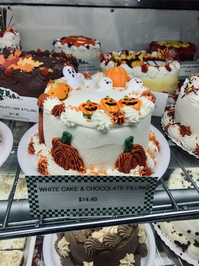 At Franks Farm Market (5880 Sterrettania Rd) shoppers eyes are drawn to the assortment of baked goods including the Halloween decorated cakes.