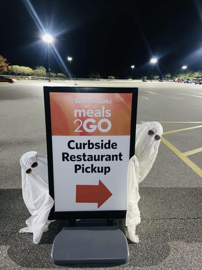 The latest TikTok trend is to dress up like a ghost and take pictures around town at night. This picture is taken at Wegmans parking lot on ( 5028 W. Ridge Rd.)  It keeps the TikTok fans entertained while taking their minds off the pandemic.