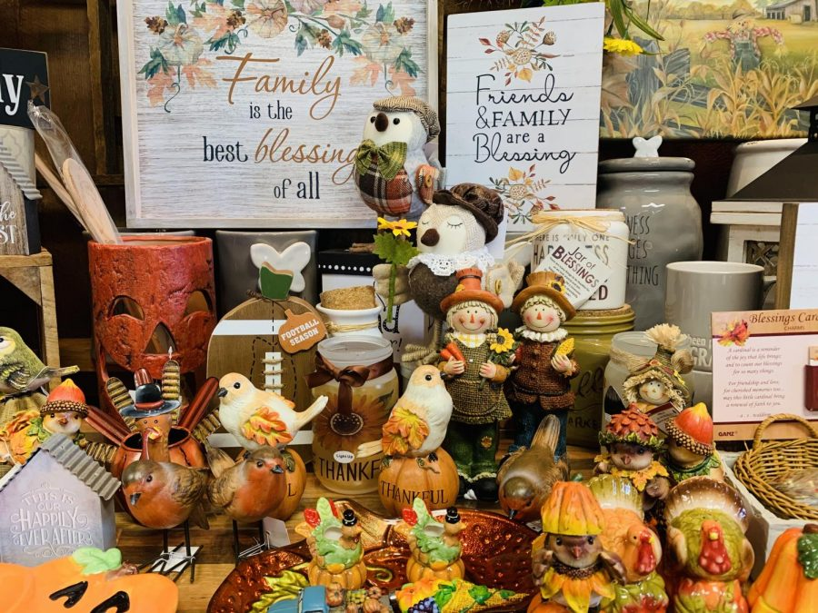 Franks Farm Market (5880 Sterrettania Rd.) sells fall decorations to make your house feel homey. There are pumpkins, birds, pictures with fall captions, and many more, as well as seasonal produce and baked goods.