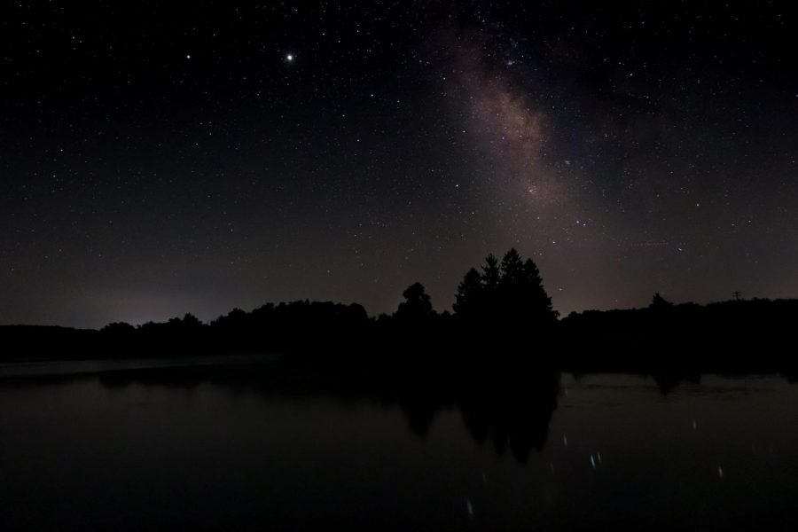 Jupiter shines bright above Eaton Reservoir on a late night shoot in early August