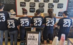 Workers at Picassos restaurant supported Johnny Huebel by wearing his jersey number on Oct. 23 for #23strong day for Heubel.